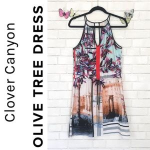 Clover Canyon Olive Tree Summer Dress Drawstring